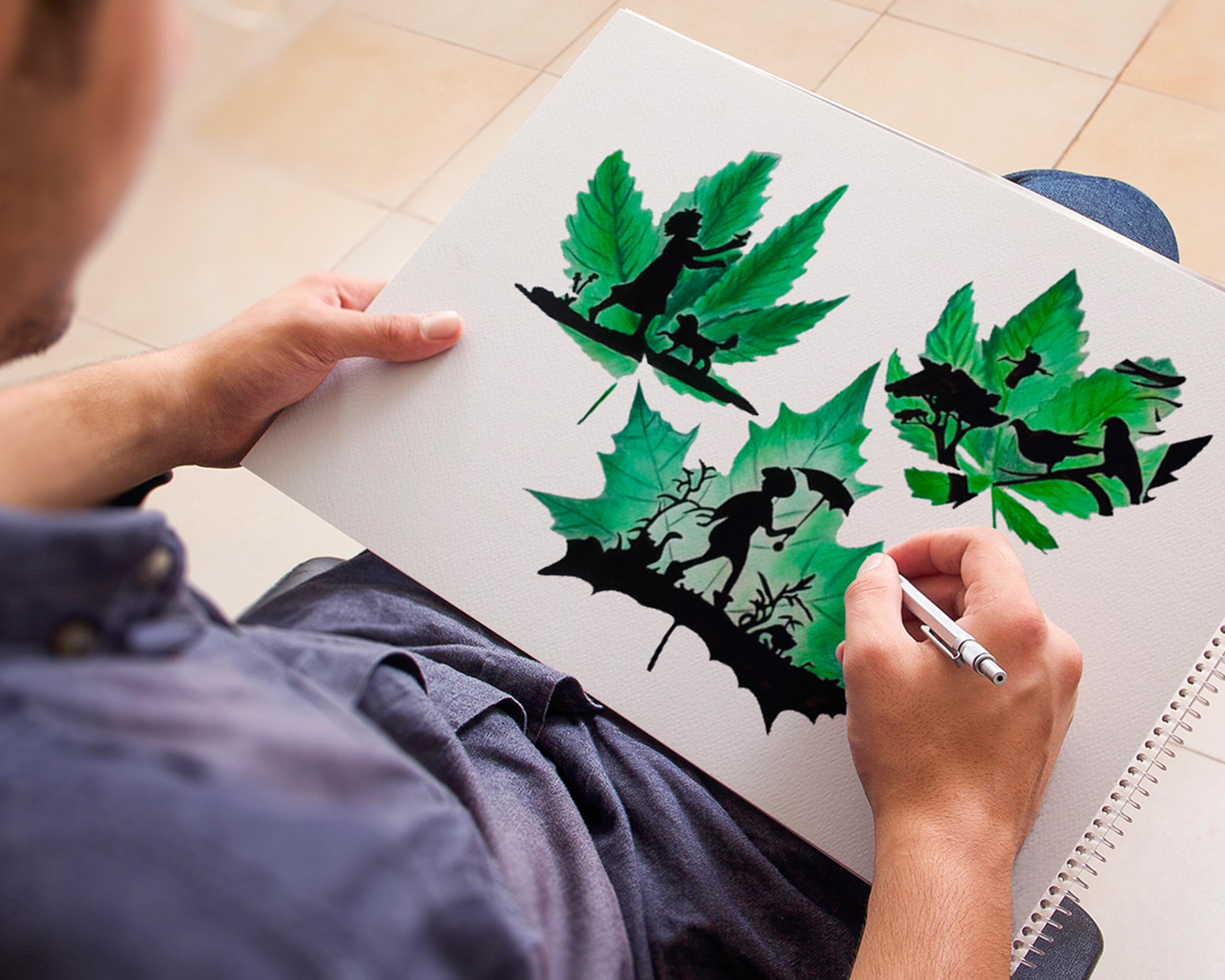 green-tekening